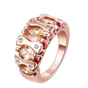 Jewelry - Morganite Rose Gold Plated Ring Size 7-8